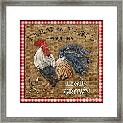 Farm To Table-jp2390 Framed Print by Jean Plout