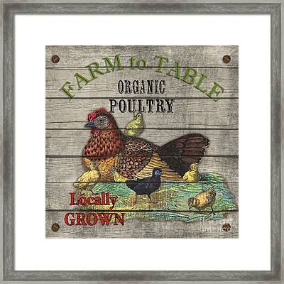 Farm To Table Poultry-jp2630 Framed Print by Jean Plout