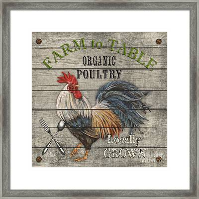 Farm To Table Rooster-jp2628 Framed Print by Jean Plout