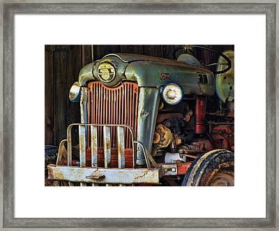 Farm Tractor Two Framed Print by Ann Bridges