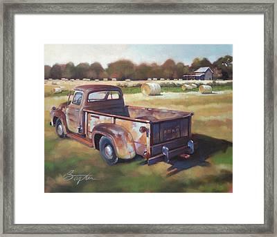 Farm Truck Framed Print by Todd Baxter