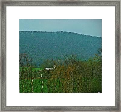 Farm Tucked Mountaintop  Framed Print by Debra     Vatalaro