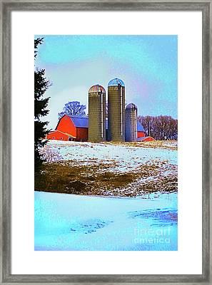 Farm Up Yander Framed Print