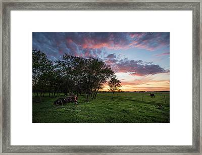 Farm View  Framed Print