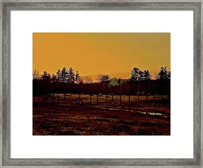 Farm With A View Framed Print by Elizabeth Tillar