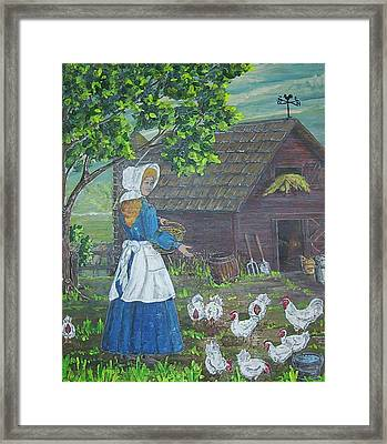 Farm Work I Framed Print by Phyllis Mae Richardson Fisher