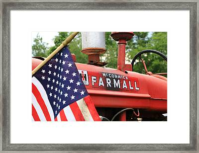Framed Print featuring the photograph Farmall 2 by Rick Morgan