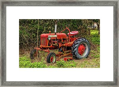 Framed Print featuring the photograph Farmall Cub by Christopher Holmes