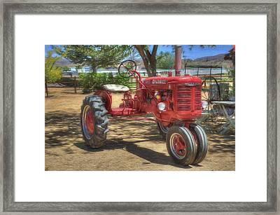 Farmall Framed Print by Donna Kennedy