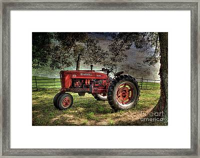 Farmall In The Field Framed Print