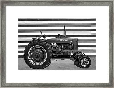 Farmall M And Steel Framed Print by Todd Klassy