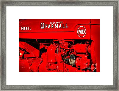 Farmall Md Framed Print by Olivier Le Queinec