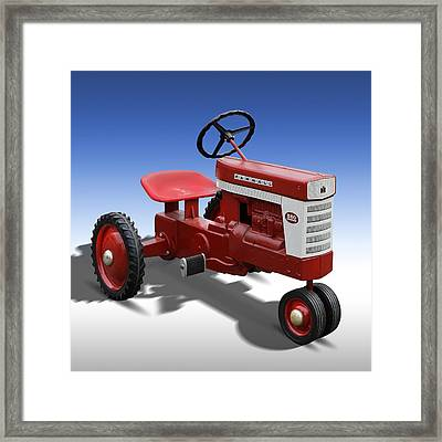 Farmall Peddle Tracter Framed Print by Mike McGlothlen