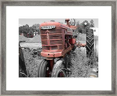 Farmall Red Framed Print by Lynda Dawson-Youngclaus
