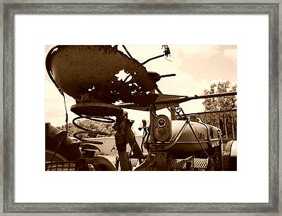 Farmall Seat In Sepia Framed Print
