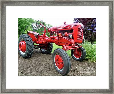 Farmall Framed Print by Susan Lafleur