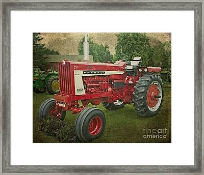 Farmall Tractor Framed Print by Emily Kay