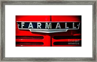 Farmall Tractor Hood Framed Print