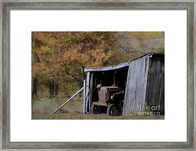 Framed Print featuring the photograph Farmall Tucked Away by Benanne Stiens