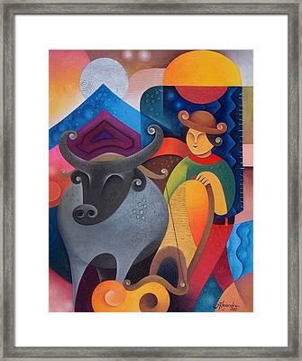 Farmer Framed Print by Hermel Alejandre
