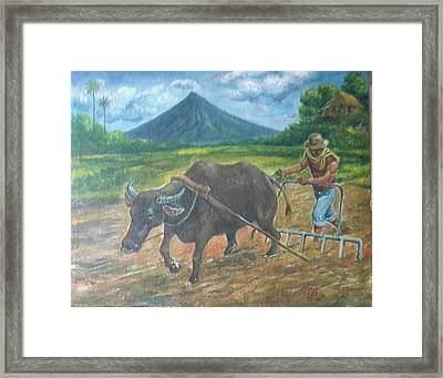 Farmer_2 Framed Print by Manuel Cadag