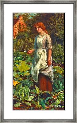 Farmers Daughter 1881 Framed Print