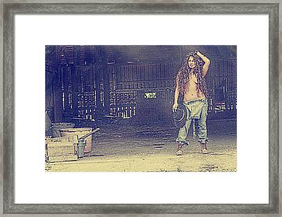 Farmers Daughter Framed Print by Naman Imagery
