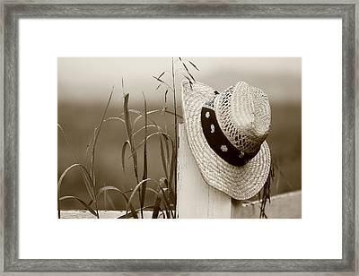 Farmers Hat Framed Print