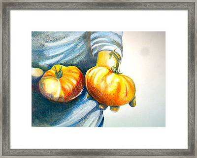 Farmers Market 1 Framed Print by Cami Rodriguez