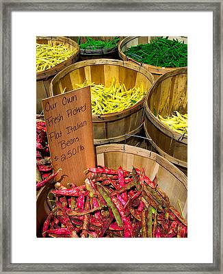 Farmers Market Framed Print by Andrew Kubica