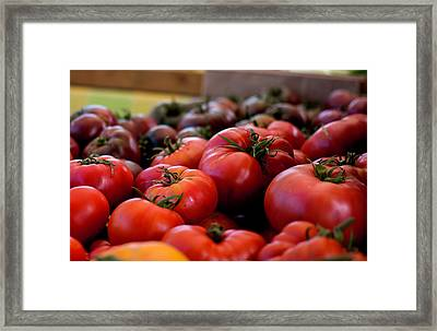 Farmer's Market Bounty Framed Print by Lora Lee Chapman