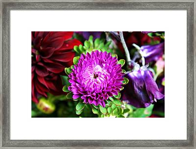 Farmers Market Bouquet Framed Print by Cathie Tyler