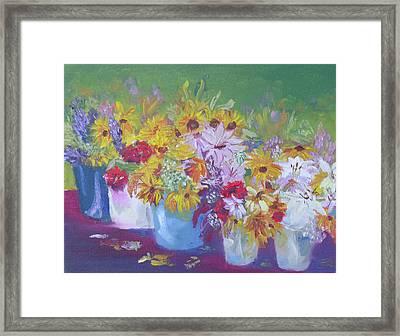 Farmers Market Flowers Framed Print by Robert P Hedden