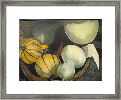 Farmer's Market Gourds Framed Print