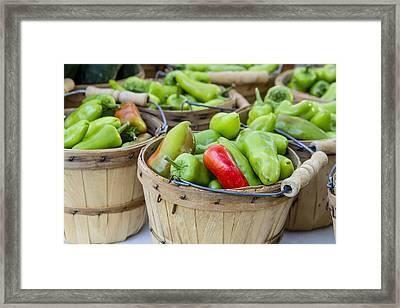 Farmers Market Hot Peppers Framed Print