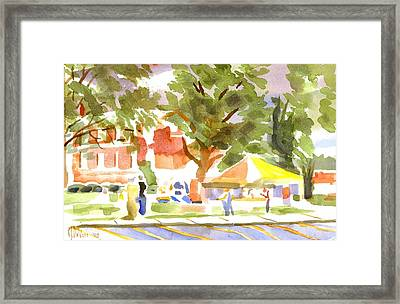Farmers Market Ironton Missouri Framed Print by Kip DeVore