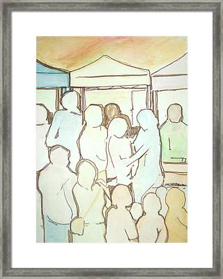 Farmers Market Framed Print by James Christiansen