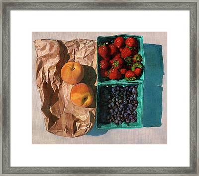 Framed Print featuring the painting Farmers Market by John Dyess