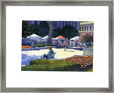 Farmers Market, Madison Framed Print