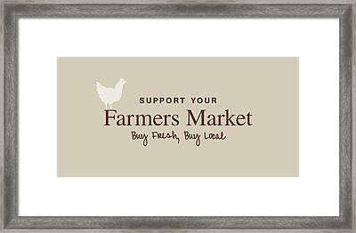 Framed Print featuring the digital art Farmers Market by Nancy Ingersoll