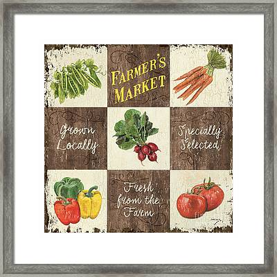 Farmer's Market Patch Framed Print