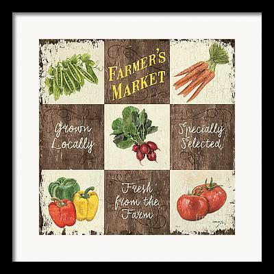 Local Food Mixed Media Framed Prints