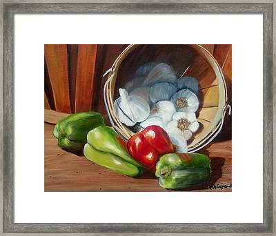 Framed Print featuring the painting Farmers Market by Susan Dehlinger