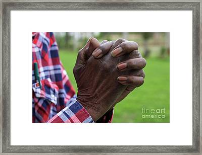 Farmers Prayer Framed Print by Joy Tudor