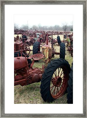 Farmers Racer Framed Print by Joy Tudor