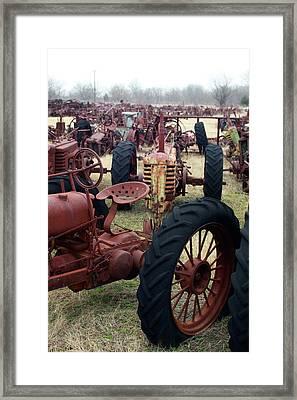 Farmers Racer Framed Print by Joy Tudor