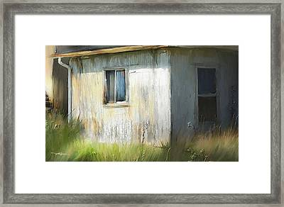 Farmhouse Detail Port Albert Ontario Framed Print by Bob Salo
