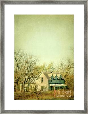 Farmhouse In Arkansas Framed Print by Jill Battaglia