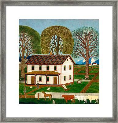 Farmhouse In Mahantango Valley Framed Print by Mountain Dreams