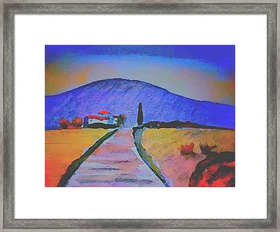 Farmhouse In The Midi Pyrenees Framed Print by Paul Jarvis